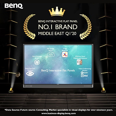 BenQ Crowned No.1 Interactive Flat Panel Brand in the Middle East for Q1 2020