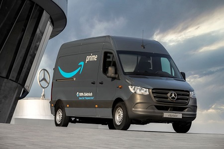 Mercedes-Benz Joins The Climate Pledge and Delivers More Than 1,800 Electric Vehicles to Amazon's Delivery Fleet in Europe