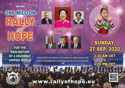 """Universal Peace Federation (UPF) Holds 2nd Online """"Rally of Hope"""""""